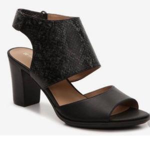 Naturalizer Open Toe Black Heeled Sandals